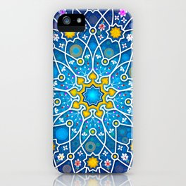 Blue geometry iPhone Case