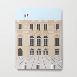Paris, France | Buren's Columns, Palais Royal Metal Print