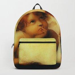 "Raffaello Sanzio da Urbino ""Sistine Madonna"", 1513-1514 - angels (1) Backpack"