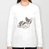 sphynx Long Sleeve T-shirts featuring Sphynx by Mariel Castro