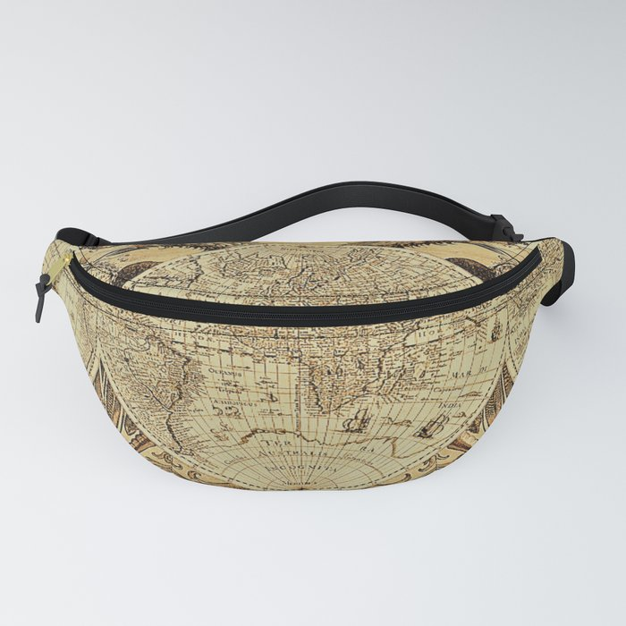 Ancient World Map #6 with Dragons - Jeanpaul Ferro Fanny Pack