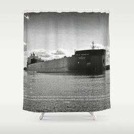 Paul R Tregurtha With Stats Shower Curtain