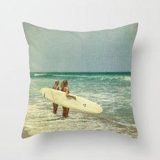 Girls of summer Throw Pillow