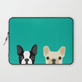 Boston Terrier & French Bulldog 2 Laptop Sleeve