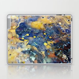 When Planets Align watercolor abstract by CheyAnne Sexton Laptop & iPad Skin