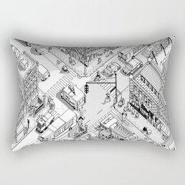 MacPaint project: NYC Rectangular Pillow