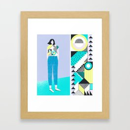 Pattern & Figure Framed Art Print