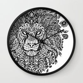 Lion Mandala Wall Clock