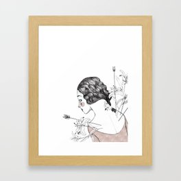 Flowers and arrows Framed Art Print
