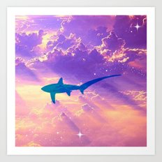 Air Shark Art Print
