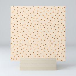 Mudcloth Polka Dots in Bone + Ochre Gold Mini Art Print