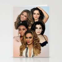 fifth harmony Stationery Cards featuring Fifth Harmony by Aaron Jason