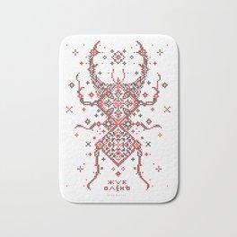 Stag Beetle Ornament Bath Mat