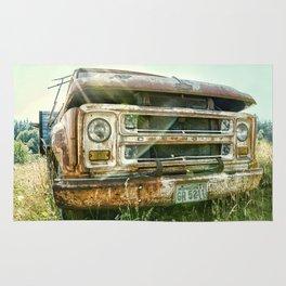 Vintage Chevy Truck Rug