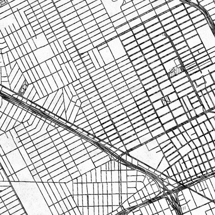 Detroit Map Line Leggings