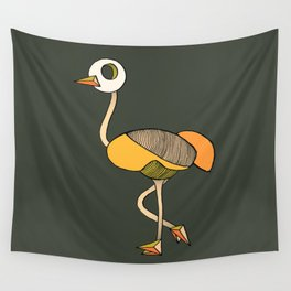 keep your head up - ostrich 1 Wall Tapestry