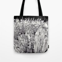 silver Tote Bags featuring silver by Bonnie Jakobsen-Martin