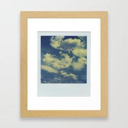 Instant Series: Clouds Framed Art Print
