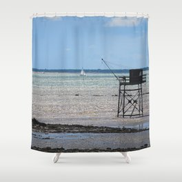 Fisherman house at ré island Shower Curtain