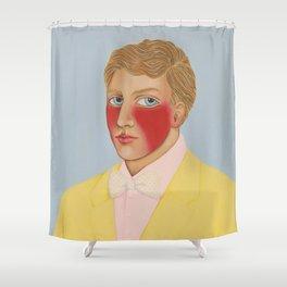 Pirate in tuxedo Shower Curtain