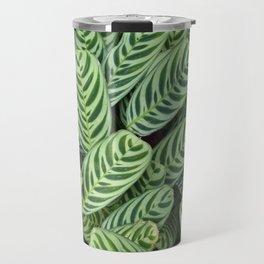 Multi Green leaves closeup Travel Mug
