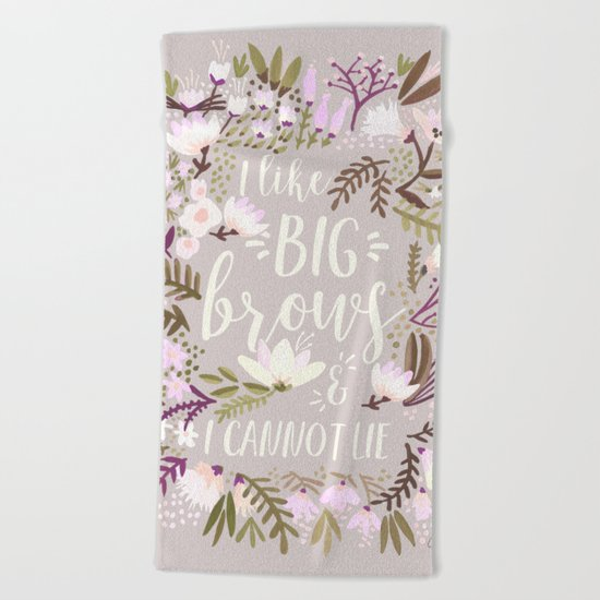 Big Brows – Spring Palette Beach Towel