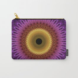 Violet, red and yellow mandala Carry-All Pouch