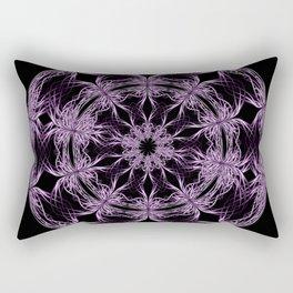 Mandala purple and black Rectangular Pillow