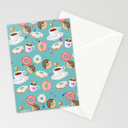 Coffee and Doughnuts Stationery Cards