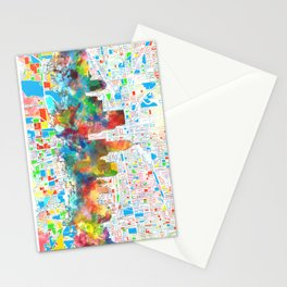 indianapolis city skyline watercolor 6 Stationery Cards