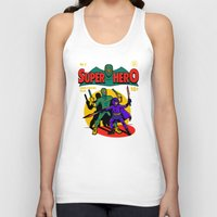 superhero Tank Tops featuring Superhero Comic by harebrained