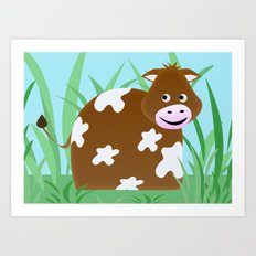 Little Cow Art Print
