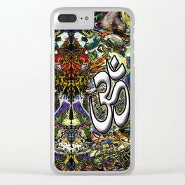 Om Shanti by Kenny Rego Clear iPhone Case