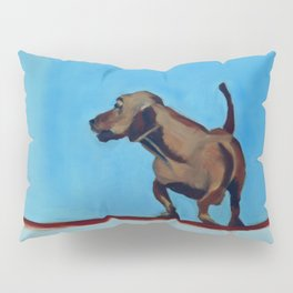 Doxie Dog in Red White and Blue Pillow Sham