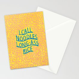 i call noodles long-ass rice Stationery Cards