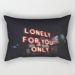 LONELY FOR YOU ONLY Rectangular Pillow