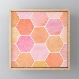 Desert Mood Hexagon Print Framed Mini Art Print