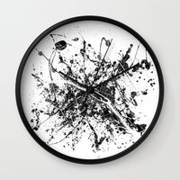 paris map Wall Clocks featuring Paris map by Nicksman
