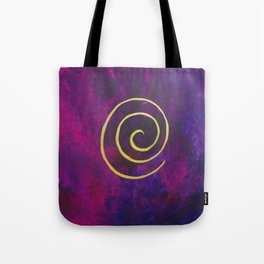 Philip Bowman Infinity Deep Purple And Gold Abstract Modern Art Painting Tote Bag