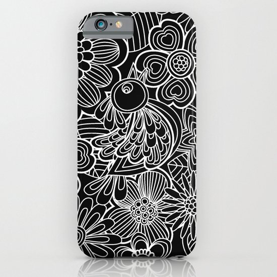 """""""Welcome birds..""""in black and white. iPhone & iPod Case"""