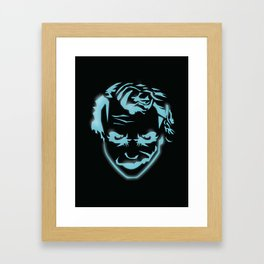 The Joker Neon Glow Illustration Framed Art Print