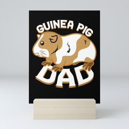 Guinea Pig Dad Mini Art Print