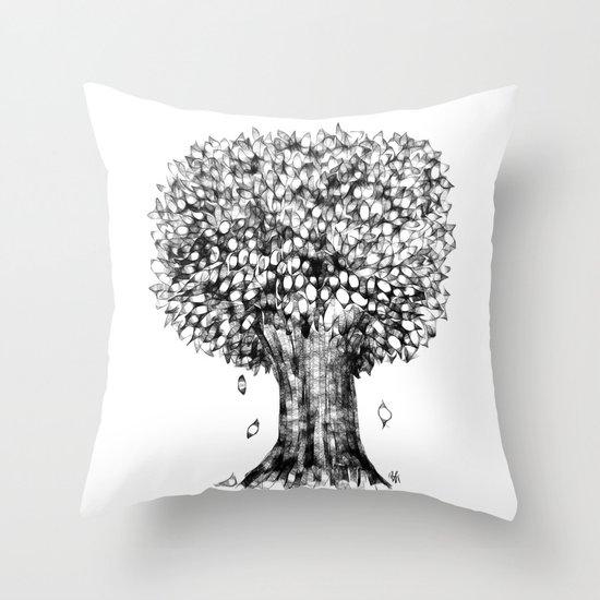 One Tree Throw Pillow
