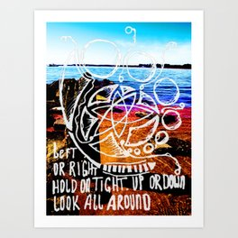 Left Right Up Down Art Print