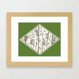 Koala Forest Framed Art Print