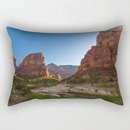Angel's Landing Zion National Park Utah Rectangular Pillow