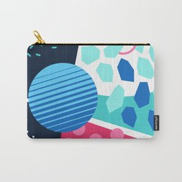 Memphis pastel blue green pink Carry-All Pouch