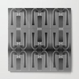 Art Deco 32 . Graffiti black and white Metal Print