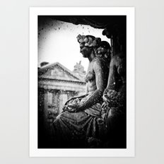 Place de la Concorde Fountain, Paris, France Art Print