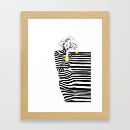 Lady in Stripes Framed Art Print